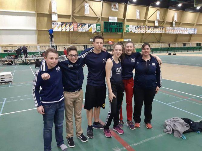 Cinq athlètes des Vaillants se distinguent à Sherbrooke